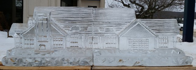 Building replicated in ice