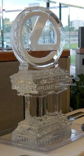 Ice Matters Snowfilled Circle Logo on Column Base